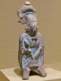 Female Figure Holding Child Maya Jaina Island Ceramic 600-900 CE by mharrsch, via Flickr
