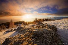 Sunrise at Dobratsch mtn. near Villach, Austria by Juergen Jauth