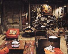 Could this be the ultimate gentleman's den? #gentleman #home #rustic