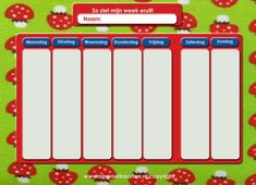 Prachtige site met gratis printbare (aftel)kalenders, pictogrammen, beloningskaarten en nog veel meer!