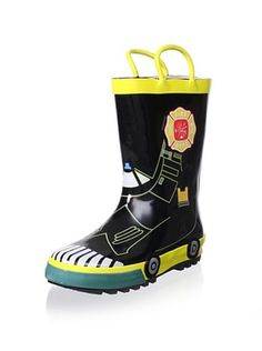 61% OFF Joseph Allen Kid's JA4314 Boys Fireman Rain Boots | Kids ...