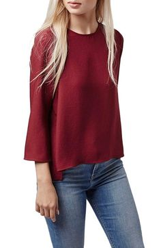 Topshop+Side+Vent+High/Low+Top+(Petite)+available+at+#Nordstrom