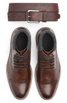 Johnston & Murphy Belt & Cap Toe Boot available at #Nordstrom
