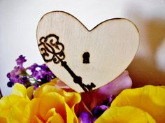 Key To My Heart cake topper  key to my by KraftedSweetMemories