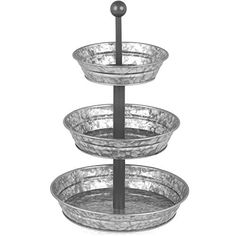 Galvanized 3 Tier Serving Tray – The little thins – Event planning, Personal celebration, Hosting occasions Country Farmhouse Decor, Farmhouse Style Decorating, Vintage Farmhouse, Vintage Decor, Rustic Decor, 3 Tier Serving Tray, Tiered Stand, 3 Tier Metal Stand, Fruit Party