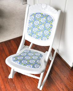 $8 Rocking Chair...revived! - Cleverly Inspired