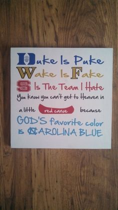 Hey, I found this really awesome Etsy listing at https://www.etsy.com/listing/181111876/unc-tarheel-fan-sign-nc-acc-team-sign