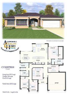 House Plan - Affordable Quality Homes  Corinthian 213sqm
