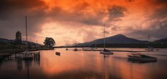 Huon River Ablaze by Margaret Morgan on 500px
