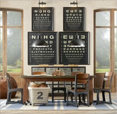 old eye charts for a different look !