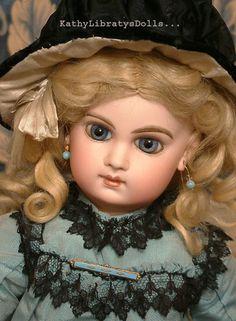 "Fabulous 18"" Antique E J Jumeau French Bisque Bebe Doll Size 8"