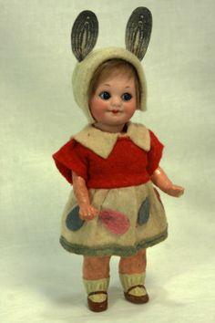 Antique Armand Marseille 323 Googly Eye Easter Doll in Egg Display C1915 | eBay
