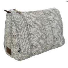 Cable Knit Cosmetic Bag