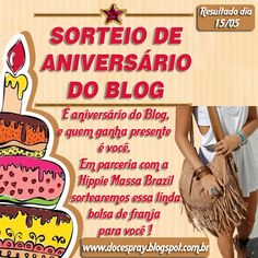 Doce Spray: Sorteio de Aniversário do Blog !