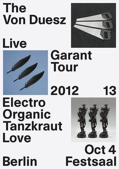 The Von Duesz, Garant, Tour poster, 2012