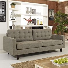 EMPRESS UPHOLSTERED SOFA IN OATMEAL - EEI-1011-OAT