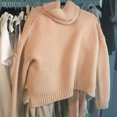 Zara chunky knit turtle neck sweater NWOT! Perfect condition, super comfortable and cute!! Zara Sweaters Cowl & Turtlenecks