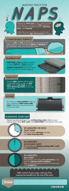 Make space for naps infographic