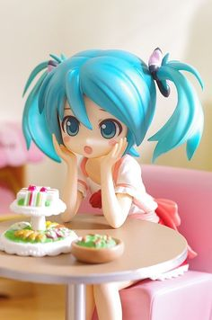 Hatsune Miku chan so cute! Vocaloid, Kaito, Anime Chibi, Manga Anime, Anime Art, Manga Girl, Anime Girls, Cosplay Anime, Figure Photography