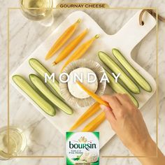 Turn viewing parties into wow-worthy tasting parties with Boursin cheese.
