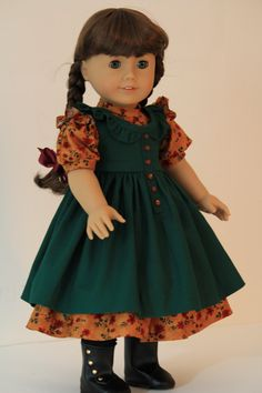 Prairie style dress for American Girl doll by BabiesArtUs on Etsy, $55.00