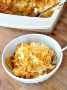 3-4 Star....Cheesy Au Gratin Potatoes.  These were pretty darn good.  Oddly addictive in that way you need just one more bite... :-).  Reheated well without getting dry or greasy.  Will repeat.