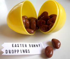 Easter Bunny Droppings for Easter Baskets - this is hilarious! Kids would be grossed out but love it at the same time! :)