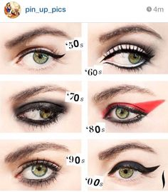 troyhistory:  Oh how eye make up has changed over the eras…