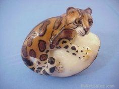 Wounaan Embera Jaguar Cat Tagua Carving Artist Santilio Panama 3 67289   eBay