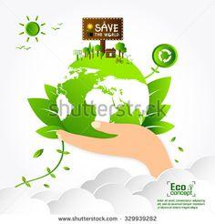 Ecology concept. save world vector illustration