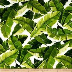 Tropical Outdoor Fabric, Richloom Balmoral Opal Indoor / Outdoor Fabric, Banana Leaf Upholstery Fabric - Fabric by the yard Outdoor Fabric, Indoor Outdoor, Outdoor Shop, Palm Fronds, Outdoor Settings, Home Decor Fabric, Tropical Leaves, Toss Pillows, Plants