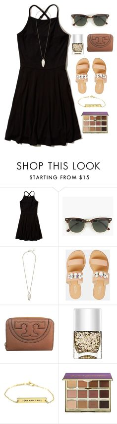 """you'll be mine and I'll be yours"" by morganmestan ❤ liked on Polyvore featuring Hollister Co., J.Crew, Kendra Scott, Carvela, Tory Burch, Nails Inc. and tarte"