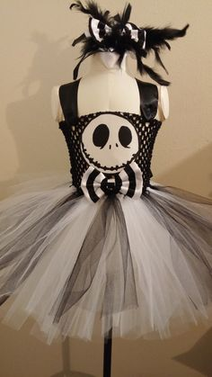 Jack Skellington Tutu by HaydeesTutuBoutique on Etsy