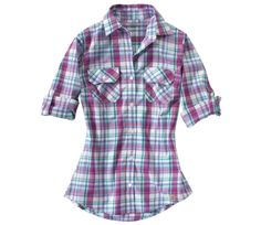 Carhartt Womens Roll-up Sleeve Plaid Shirt - Sportsmans Warehouse