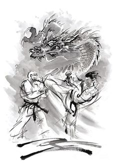 I uploaded new artwork to fineartamerica.com! - 'Power.' - http://fineartamerica.com/featured/power-mariusz-szmerdt.html przez @fineartamerica #karate #martialarts #dragon