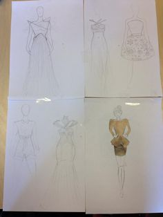 Individuelle skisser - Kersti Inspirasjon: Kontraster i farge, materiale, silhuetter etc.