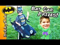 HobbyFrog goes around town wearing his bat mobile costume car. HobbyBear joins in as Batman too, and HobbyPig is Hulk. Batman Car, Superhero Shows, Batmobile, Hulk, Adventure, Toys, Activity Toys, Adventure Game, Incredible Hulk