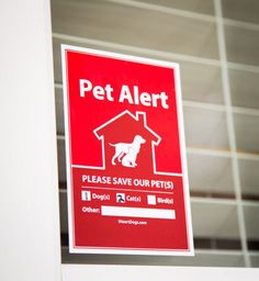 2-Pack Pet Alert Stickers: Recommended for Every Door & Window of Your Home $7.99