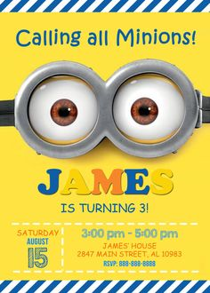 minion invitation pack of 10 pinterest minion invitation