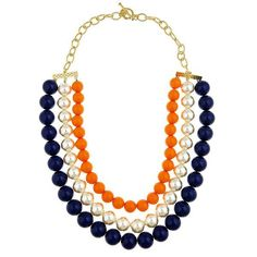 TRIPLE CANDY NECKLACE (Spring pre-order) - Pinklette... extra fun for Bears games w/ a game-day t-shirt dress refashion