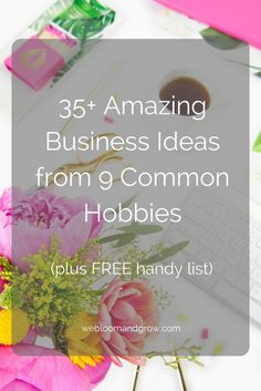 Creative Business Ideas from Your Hobby Start Up Business, Business Tips, Online Business, Hobbies For Couples, Hobbies For Women, Business Management, Business Planning, Money Management, The Computer