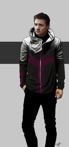 ctylerart: hoodie avengers #4, Hawkeye