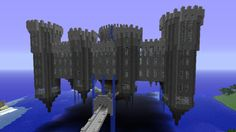 minecraft flying castle