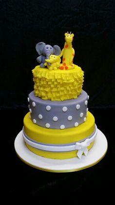 Bright Baby Shower Cake