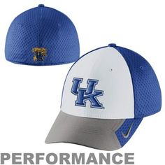 3bd9c7c7f58 Nike Kentucky Wildcats 2013 Conference Legacy 91 Swoosh Flex Performance Hat  - White Royal Blue