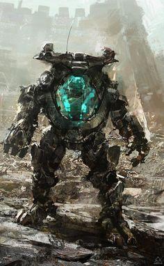 """07-08-12"" by Alexander Chelyshev (Sanchiko) | #SciFi #Mecha | From my ""Art : Sci-Fi : Mecha & Giant Robots"" pinboard"