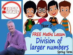 YouTube Division of  larger numbers  Maths PowerPoint Lesson - Year 5 -  Spring Term