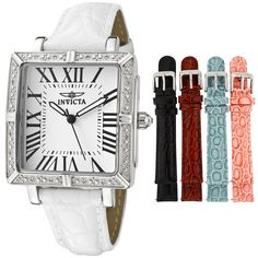 Invicta Women's 11729 Wildflower Diamond Accented Interchangeable Leather Strap Watch Set *** Don't get left behind, see this great  product