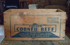 You can't buy a can of corned beef for the opening bid on this great crate!