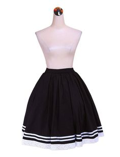 60bbfec9681d Treasure-box Knee Length Sweet Lolita Skirts for Juniors at Amazon Women s  Clothing store